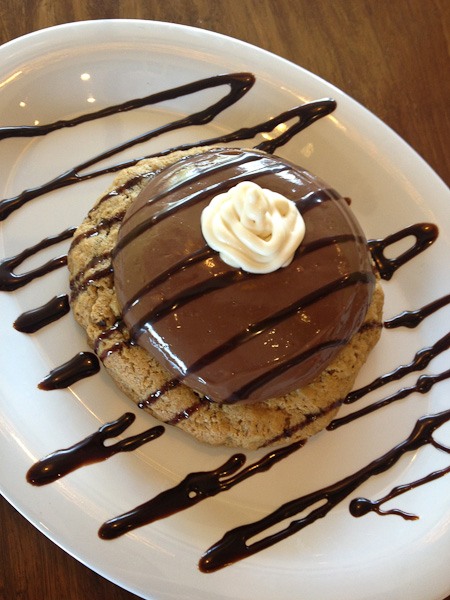 Griddled Chocolate Chip Cookie with Chocolate Pudding