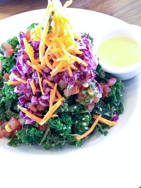 Kale Salad, Veggie Grill, ShesCookin.com