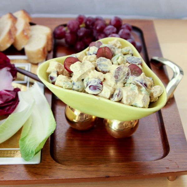 Curry Chicken Salad with Moscato Grapes