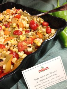 Baby Heirloom Tomato and Grilled Corn Salad
