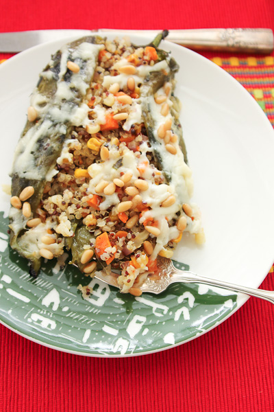 Quinoa Stuffed Chile Rellenos