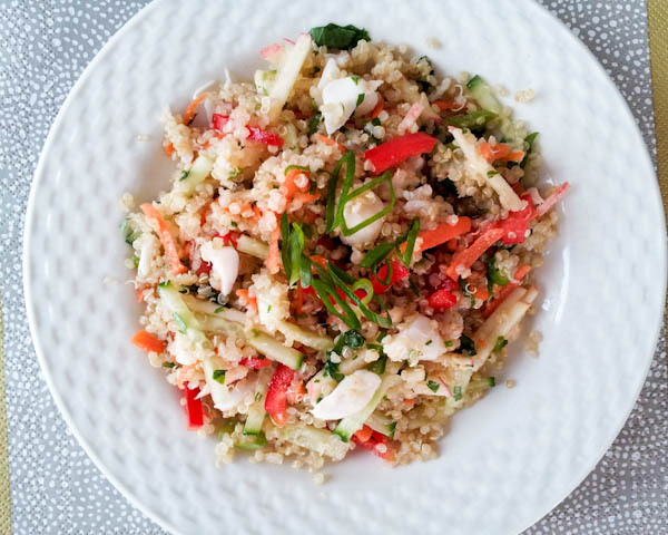Black Thai Quinoa and Crab Salad with Yuzu Vinaigrette
