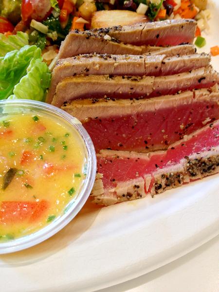 Seared Ahi Tuna with Orange Ginger Ponzu