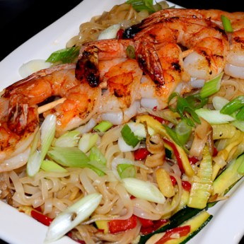 Shrimp and Pad Thai Noodles with Lime Sauce