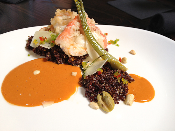 Spot Prawns, sweet pepper quinoa, braised fennel The Blind Pig-6974