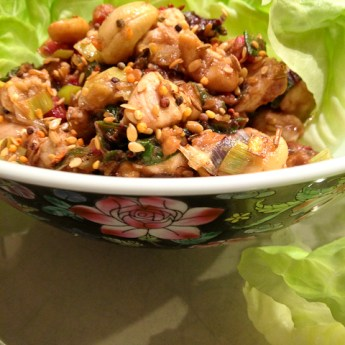 Healthy Cashew Chicken Lettuce Wraps