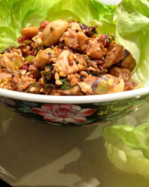 Healthy Cashew Chicken Lettuce Wraps |ShesCookinc.om