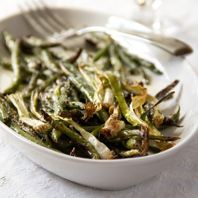 Roasted Green Beans and Scallions