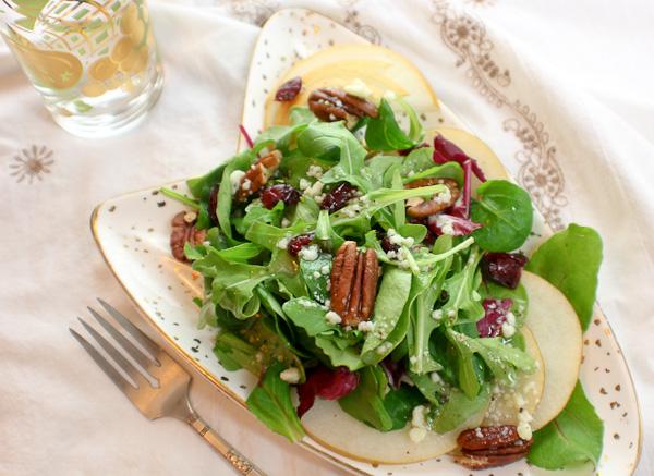Asian Pear Salad, Thanksgiving