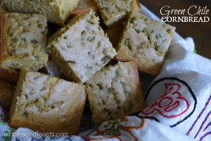 Green Chile Cornbread, Thanksgiving