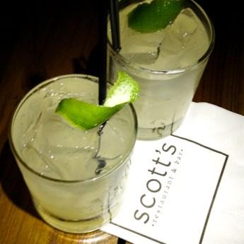 Handcrafted Cocktails at Scott's Restaurant & Bar