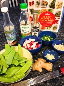 Snow Pea and Radish Stir Fry