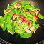 Snow Pea and Radish Stir Fry, Chinese New Year recipes