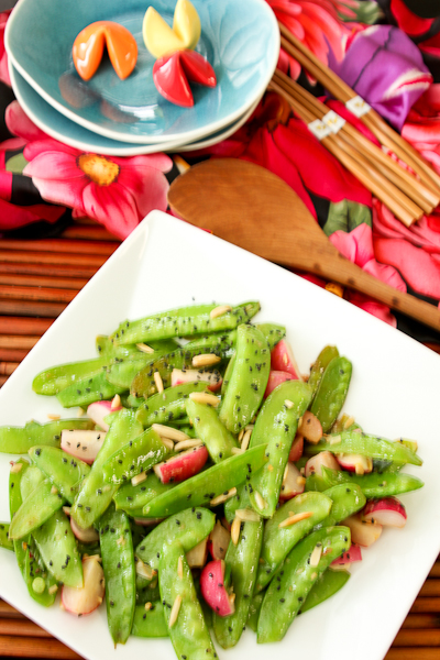Snow Pea and Radish Stir Fry-8999