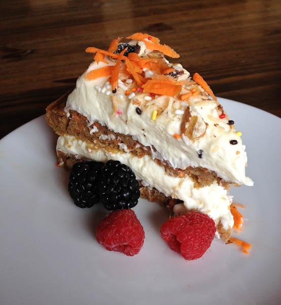 carrot cake, The Sliding Door Cafe