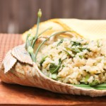 Baby Bok Choy Rosotto, lettuce risotto