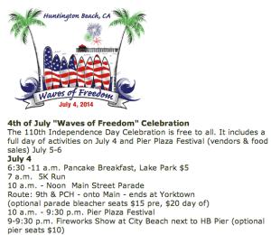 4th of July Parade and 5K Run, Huntington Beach, CA