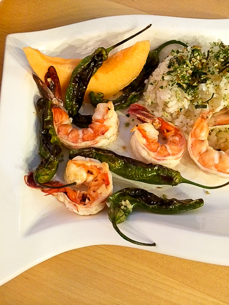 Shrimp and Shishito Peppers-