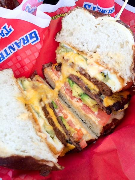 Grantburgers Chile Relleno Pretzel Burger