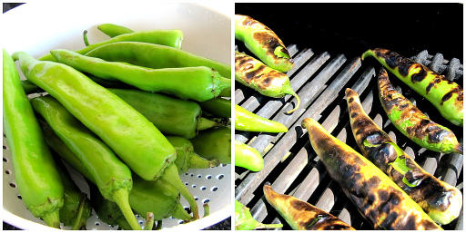 Grilling Hatch Chiles