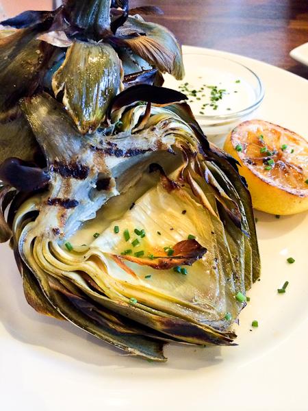 Grilled Artichoke, Del Frisco's Grille, Irvine