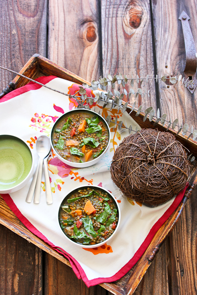 Sweet Potato and Lentil Soup with Swiss Chard