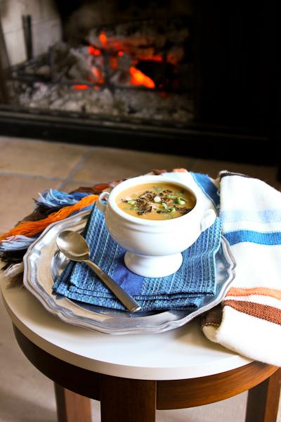 Potato, Carrot and Lentil Soup (