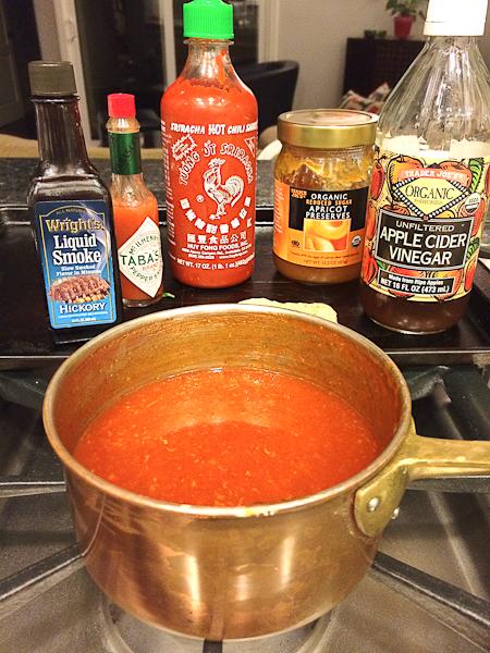 Sriracha Chicken Potato Skins ingredients