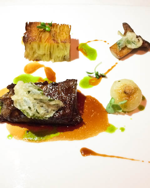 CAB Boneless Beef Short Rib with Yukon Gold Pave, King Trumpet Mushrooms