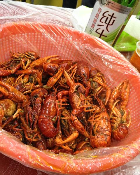Crawfish, street food, Shanghai Night Markets