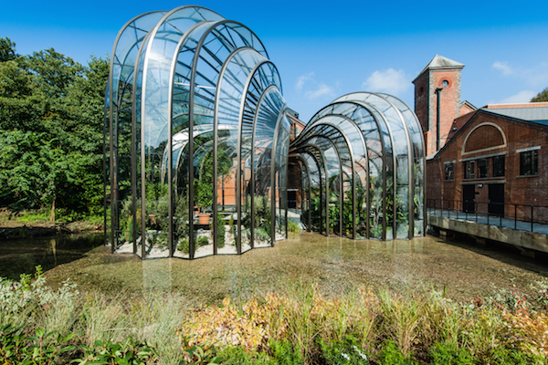Thomas Heatherwick glass houses at Bombay Sapphire Distillery, Laverstoke Mill