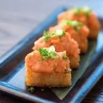 Sushi Roku Hanabi , spicy tuna on crispy rice