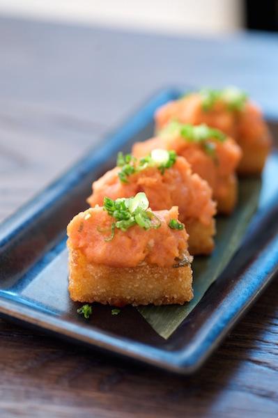 Hanabi , spicy tuna on crispy rice