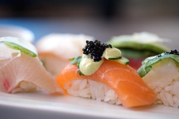 Sushi Roku Salmon with Caviar