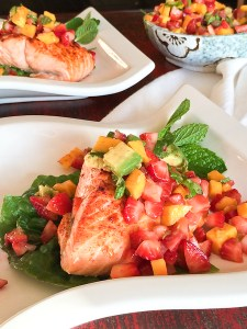 King Salmon with Limoncello Fruit Salsa