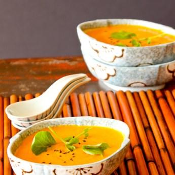 Carrot, Ginger, Pineapple Detox Soup