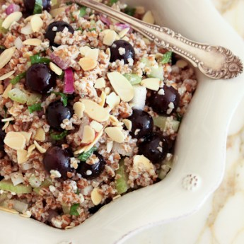 How Grape Thou Art: Grape and Almond Bulgur Salad
