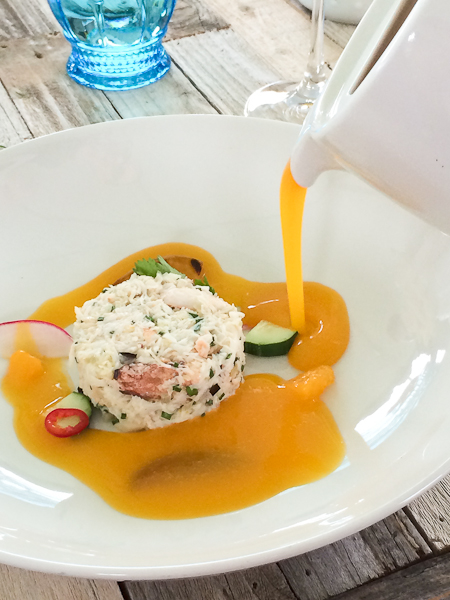 Dungeness Crab Gazpacho, The Ranch Restaurant and Saloon