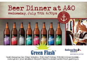 Green Flash Brewing Co. beer pairing dinner