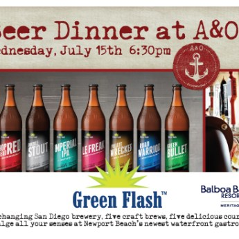 Green Flash Beer Dinner at A & O Kitchen+Bar