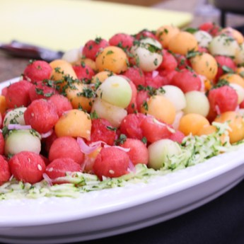 In A French Kitchen – Melon Salad with Shallot Vinaigrette