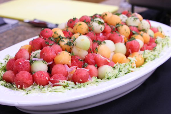 Melon Salad with Shallot Vinaigrette
