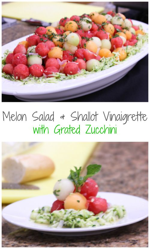 Melon Salad & Shallot Vinaigrette w/Grated Zucchini