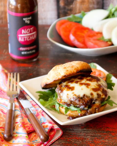 Fig & Smoked Mozzarella Bison Burger