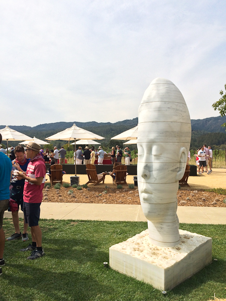 Hall Wines - Sanaa by Jaume Plensa | ShesCookin.com