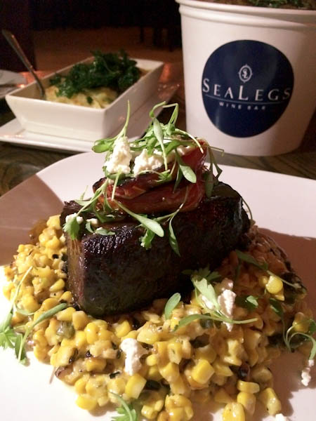 Ancho Chile Coffee Braised Short Ribs with Jalapeno and Poblano Creamed Corn | ShesCookin.com