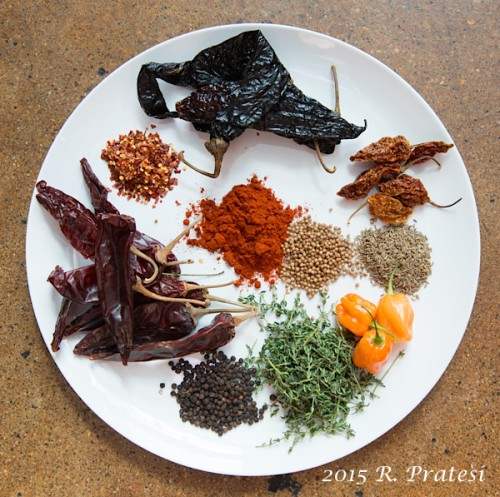 Rub ingredients - Southern Heat cookbook