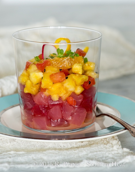 """Tuna """"Old Fashioned"""" Ceviche 