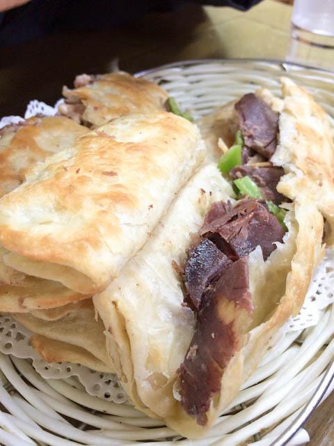 lǘròu huǒshāo (donkey meat sandwich) - Beijing | ShesCookin.com