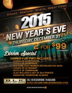BLK Earth Sea & Spirits New Year's Eve Dinner
